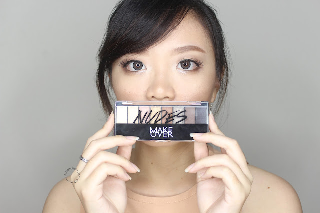 Make Over NUDES Eyeshadow Palette review + Makeup Look! by Jessica Alicia