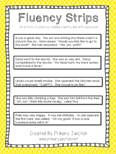 http://www.teacherspayteachers.com/Product/Fluency-Strips-An-activity-to-practice-reading-fluently-and-with-expression-1172747