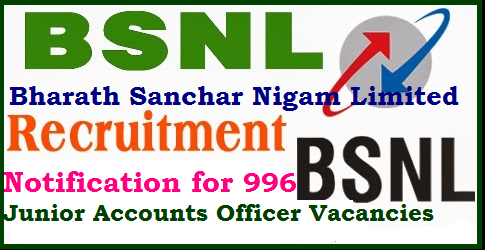 BSNL Recruitment Notification for 996 Junior Accounts Officer Posts BSNL Recruitment – Bharat Sanchar Nigam Limited – 996 Junior Accounts Officer Vacancy – Last Date 15 October 2017| BSNL Recruitment 2017. Apply 997 BSNL Recruitment Vacancies | BSNL RECRUITMENT | BSNL JAO Recruitment Notification 2017 – 996 Posts; Apply Online | BSNL Recruitment 2017 - Apply Online for 996 Junior Accounts Officer vacancies | Jobs in BSNL | BSNL JAO Recruitment 2017 - 996 Junior Accounts Officer Jobs | BSNL Recruitment 2017/2017/09/bsnl-recruitment-notification-for-996-junior-accounts-officer-apply-online-qualification-eligibility-conditions-how-to-apply-download.html