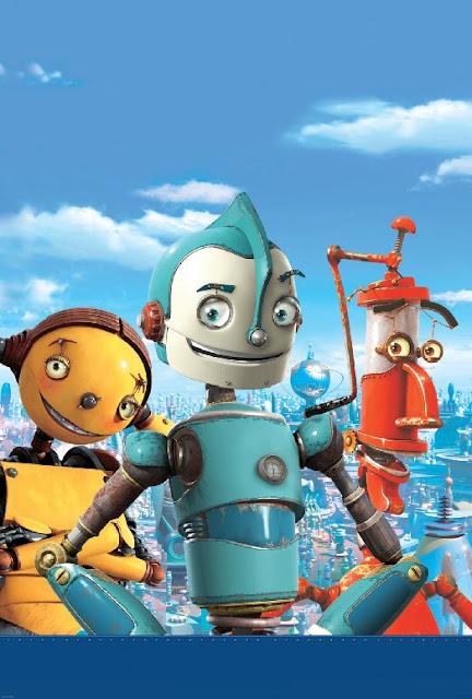Fotograma del cartel en 3D de la película Robots