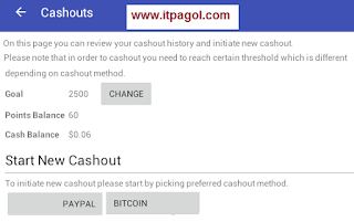 How can I cash out from casho?