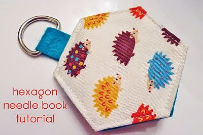 http://mythreesonsknit.blogspot.co.uk/2010/05/hexagon-needle-book-tutorial_1452.html