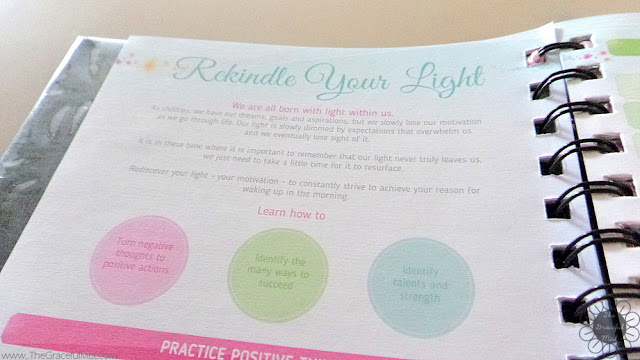 2016 Belle De Jour Power Planner: Rekindle Your Light Page Picture (Review at http://www.TheGracefulMist.com/)