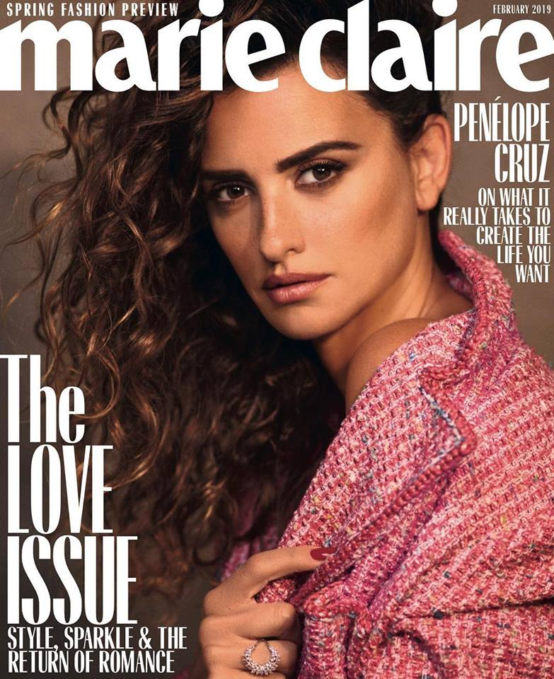 Penelope Cruz poses for Marie Claire US February 2019