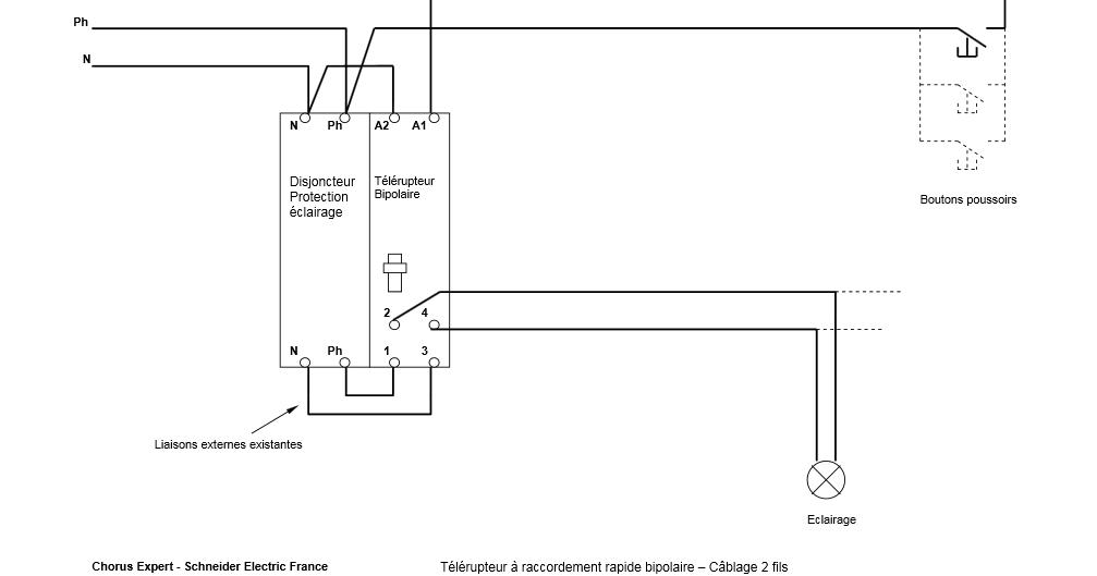 schema electrique  montage t u00e9l u00e9rupteur schneider