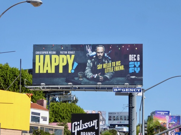 Happy Syfy series billboard