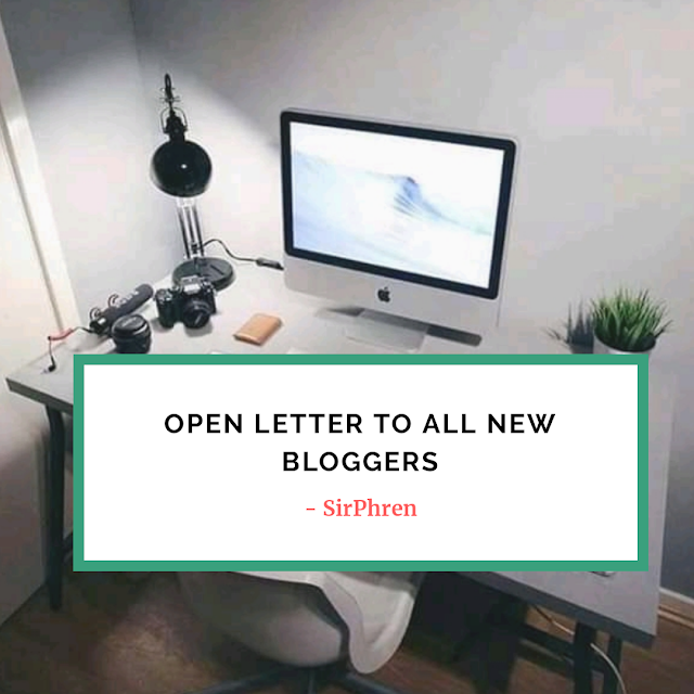 Open letter to all new bloggers