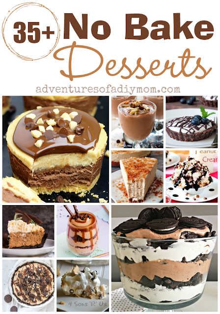35+ no bake desserts collage