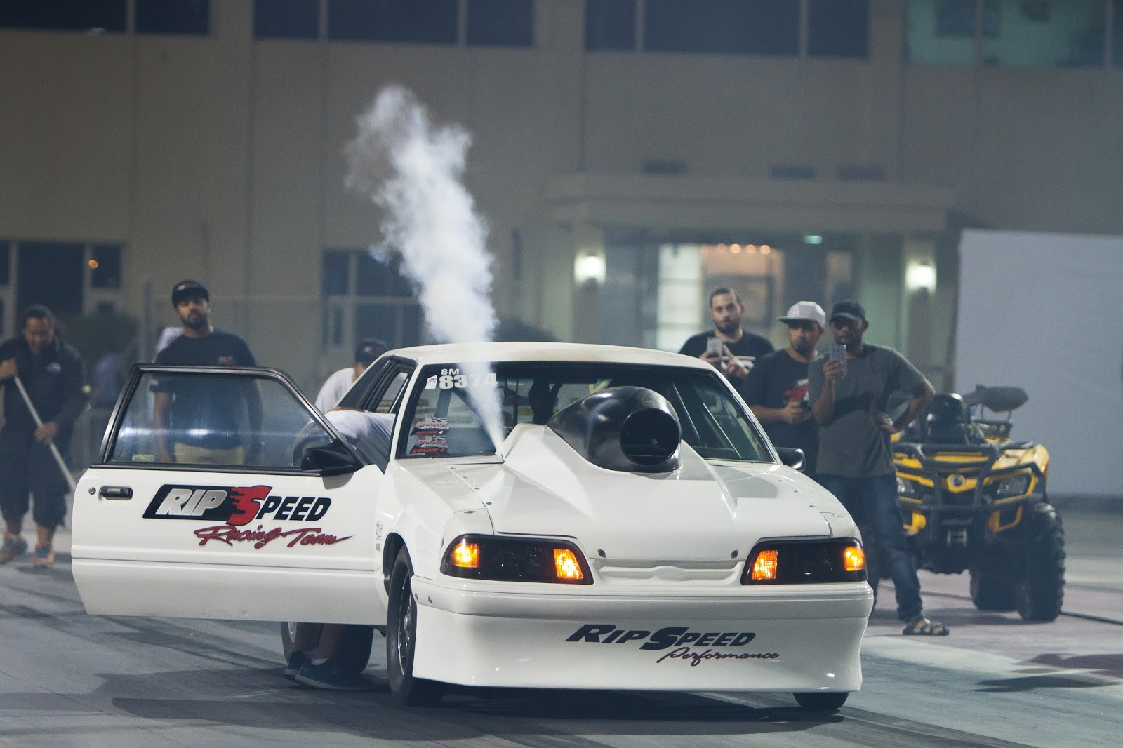 Purging Nitrous Out His  Ford Mustang