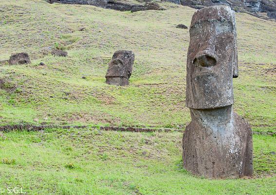 Isla de Pascua. La cantera de los Moais