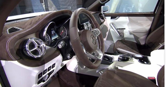 interior of The Mercedes-Benz Pickup X Class