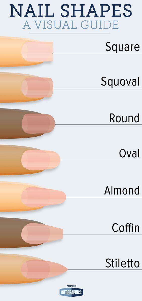 Salon Nails and Nail Shapes