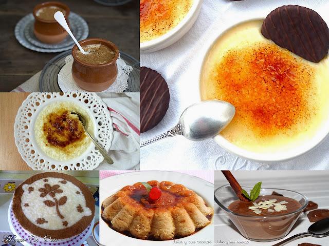 Arroz con leche y crema catalana. Julia y sus recetas