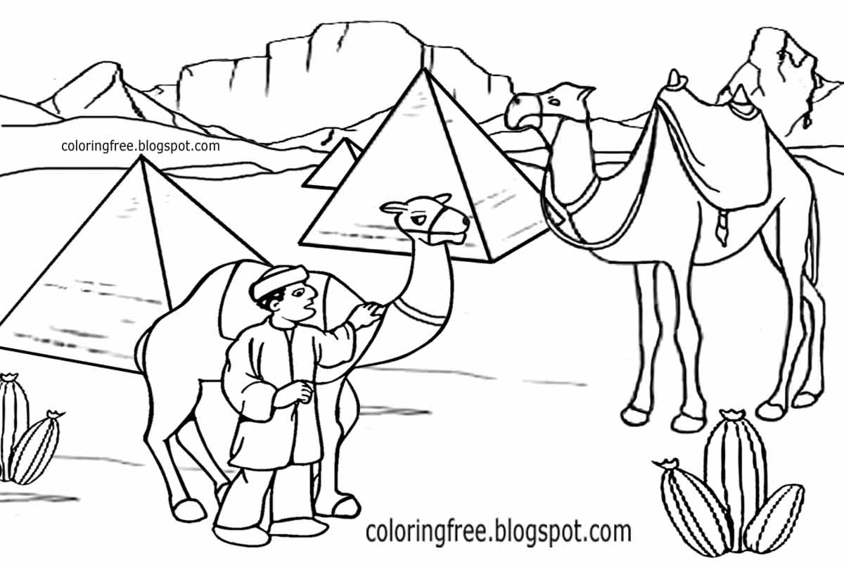 Printable Egyptian Drawing Egypt Coloring In Pages For