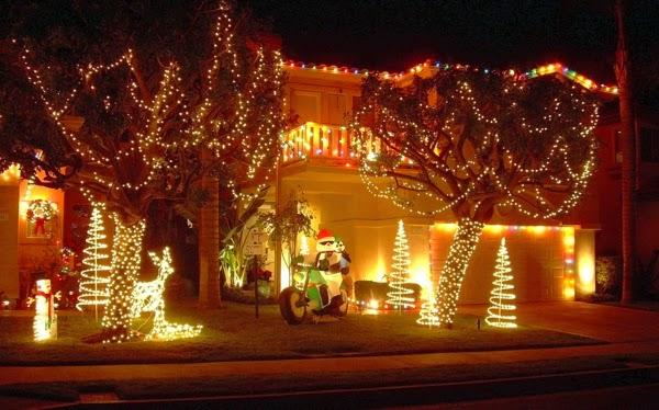 fachadas decoradas por navidad colores en casa