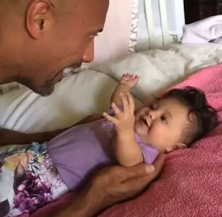 Dwayne Johnson and his daughter
