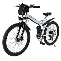 Ancheer Folding Electric Mountain Bike with Full Suspension, review plus buy at low price