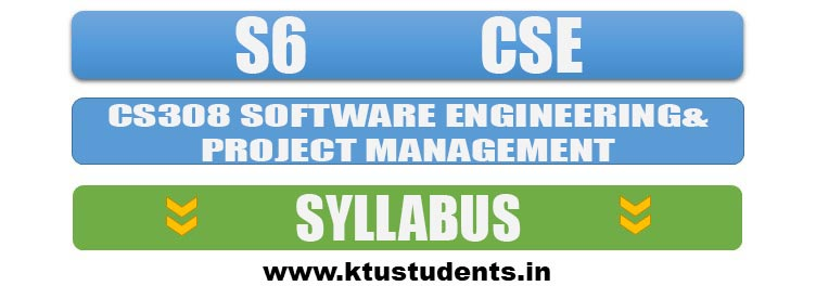 CS308 Software Engineering and Project Management | Syllabus S6 CSE