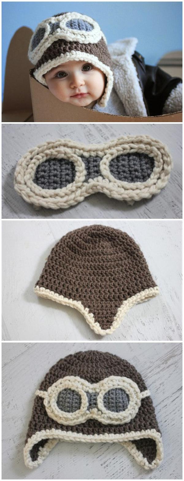 Crochet Aviator Hat Pattern