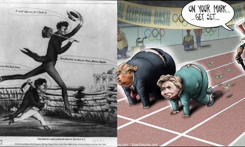 American Political Cartoons 1860 And 2016 James Zaworski S Blog