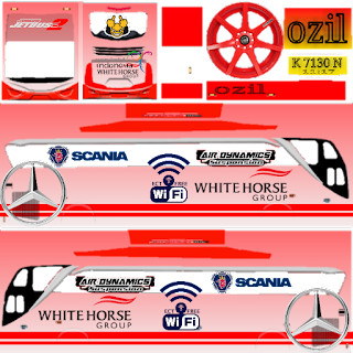 Download Livery Bus White Horse