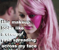 jem holograms movie 2015 makeup artist pink face hair depressed creepy