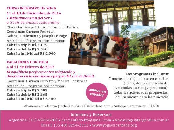 Yoga encantado  Curso Yoga Integrativo (Diciembre) Vacaciones con ... 1bd6df7b0d03