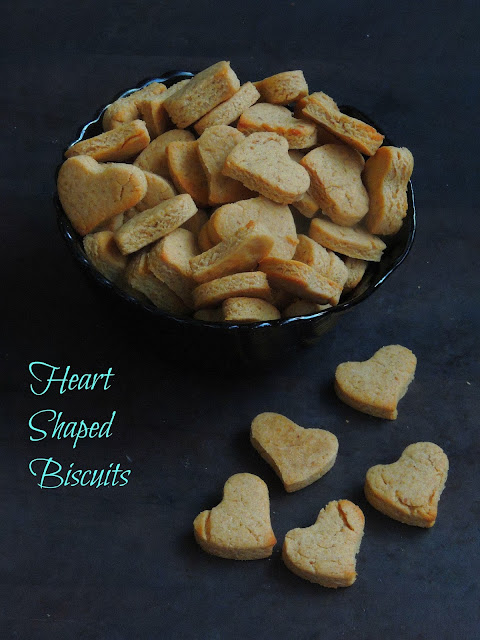 Peanut Butter biscuits, heart shaped biscuits