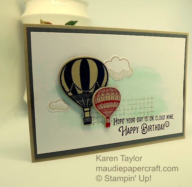 "Stampin"" Up! Lift Me Up and Up & Away thinlits birthday card"