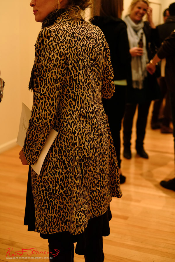 Leopard print winter coat.
