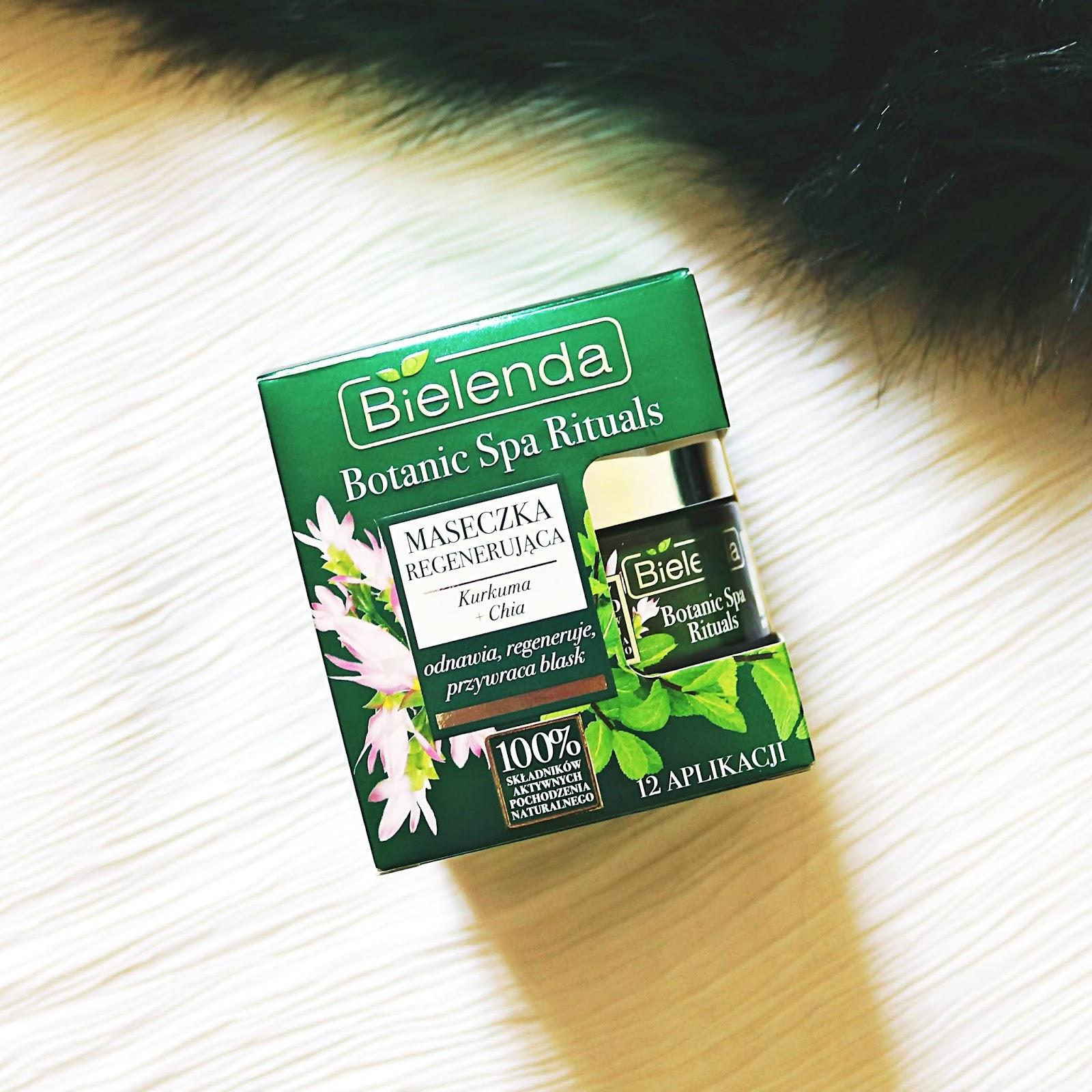 BIELENDA Botanic Spa Rituals - maseczka regenerująca z kurkumą i wyciągiem z nasion chia