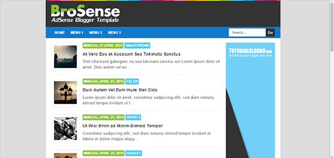 Template Responsive Original BroSense V2