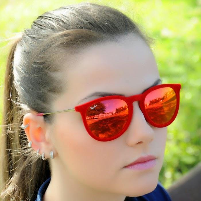 54ae46945 Óculos espelhado com armação de veludo ~ Fashionline