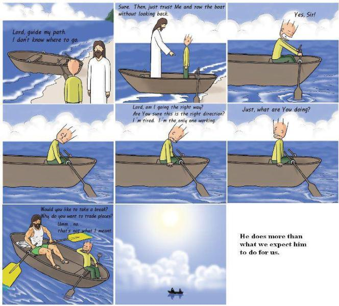 god will guide our path comics inspiration christianity love