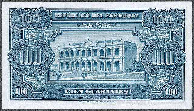 Billetes Paraguay cien Guaraníes