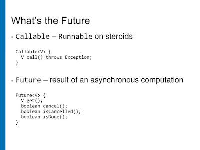 Runnable vs Callable vs Future in Java