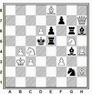 Problema de mate en 2 compuesto por Juan Zaldo (1º Premio, Magasinet 1953)