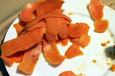 Strips of grapefruit peel, pith removed.