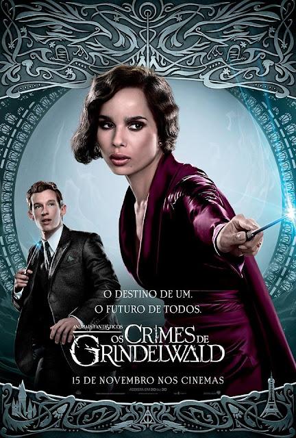 Os pôsteres nacionais dos personagens de 'Os Crimes de Grindelwald' | Leta Lestrange e Teseu Scamander | Ordem da Fênix Brasileira