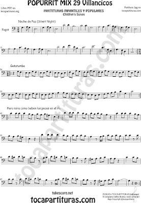 Partitura de Fagot Popurrí Mix Villancicos Noche de Paz, Gatatumba y Pero Mira como Beben los Peces en el Río Sheet Music for Bassoon