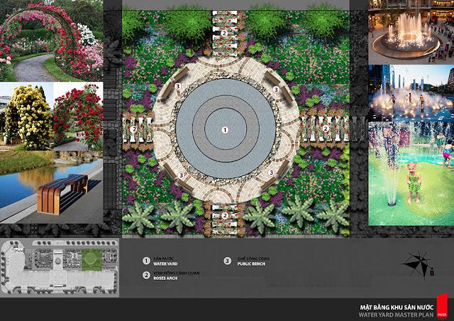 Mặt bằng quảng trường nước dự án Athena Fulland