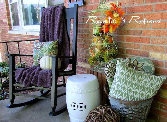 Using antique crab pots in decorating.