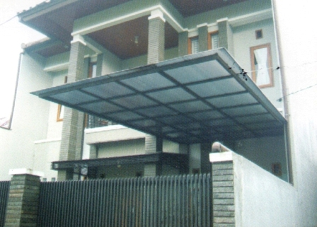 Kanopi kaca Dan Sunlouvre sistem Atap Buka Tutup
