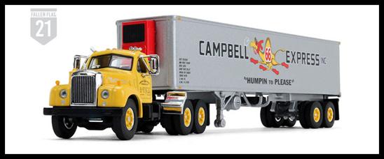 1:64 Mack B61 Campbells Express tractor-trailer