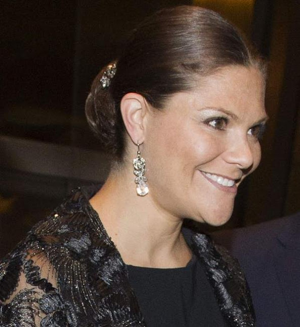 Crown Princess Victoria and Prince Daniel attends an reception at the Swedish Consulate General which ambassador Jakob Kiefer