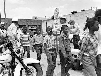 Children arrested during the Children's Crusade, 1963