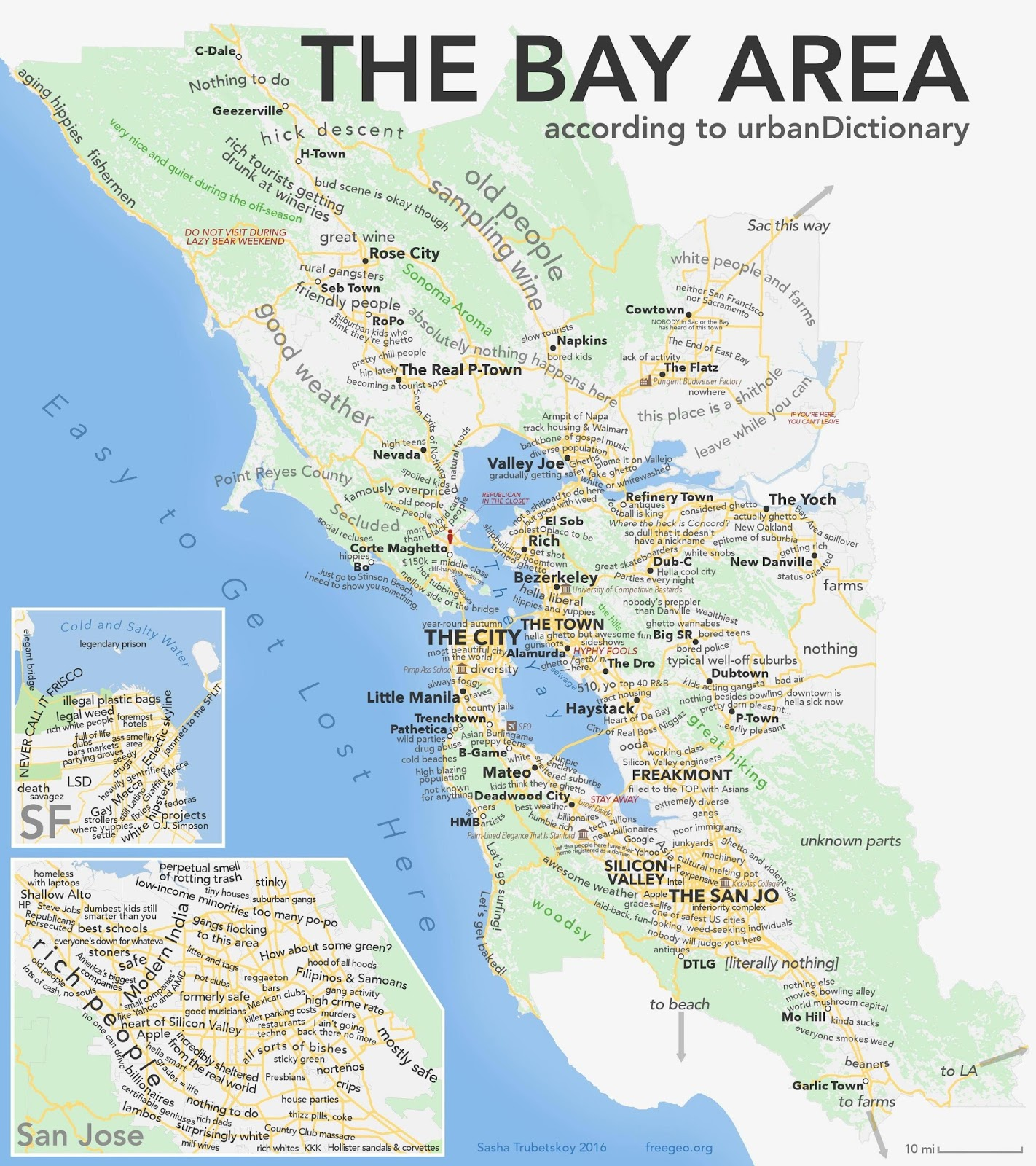 The Bay Area according to Urban Dictionary
