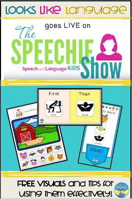 Free visuals and tips for effective use! Looks Like Language on the Speechie Show!