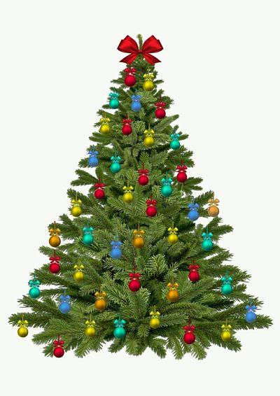 Árbol de navidad con sus adornos.