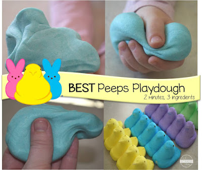 best peeps playdough recipe is ready in only 2 minutes and 3 ingredients